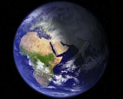 Земля днем и ночью из космоса